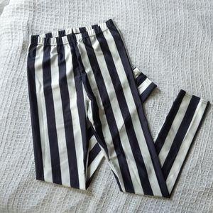 Shein Black White Striped Leggings S XS women teen